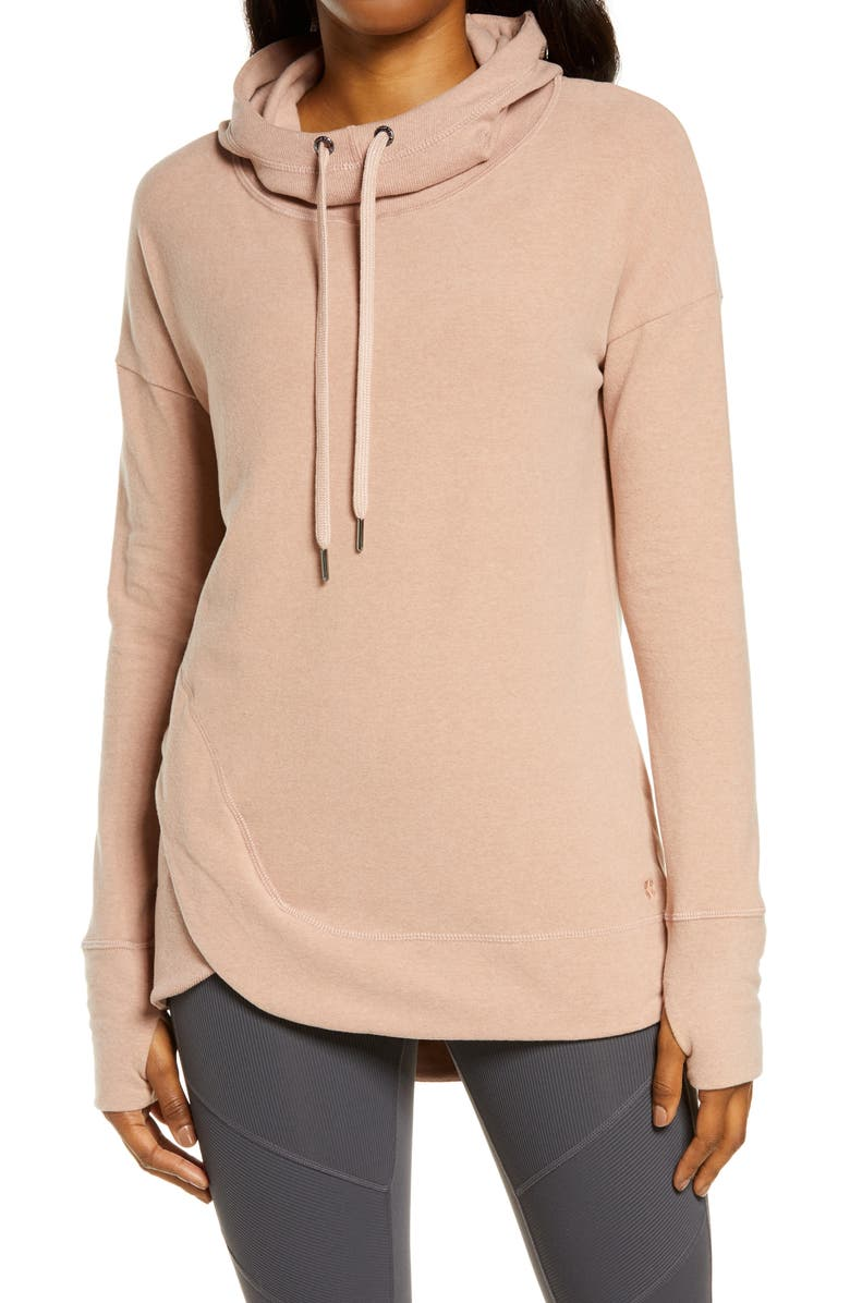 SWEATY BETTY Escape Luxe Hoodie, Main, color, MISTY ROSE PINK
