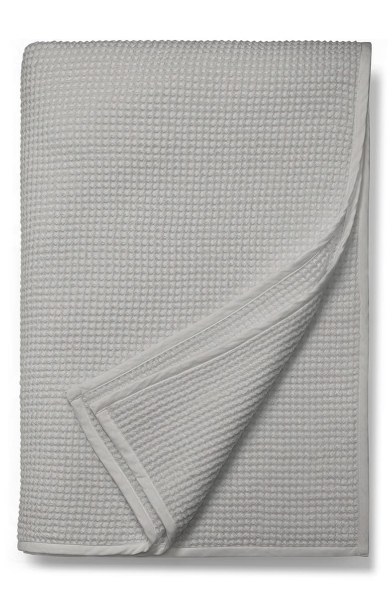 BOLL & BRANCH Waffle Organic Cotton Blanket, Main, color, 020