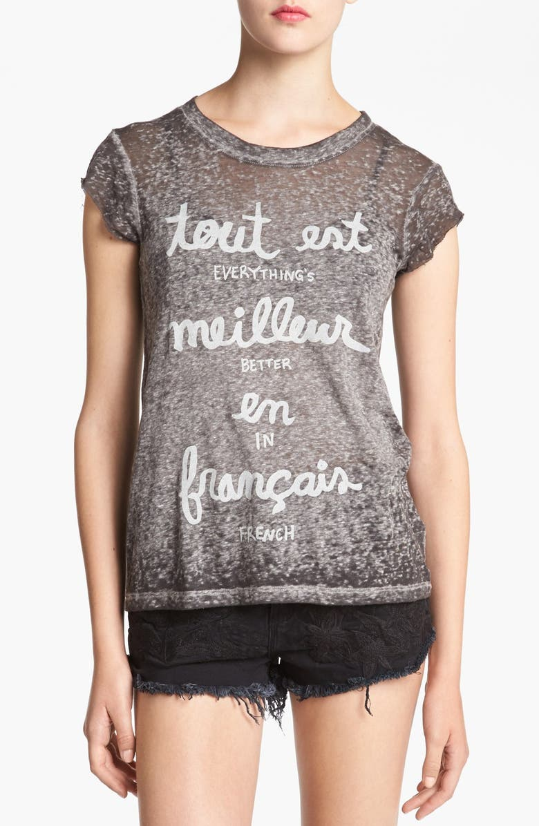 IDLEWILD 'Better in French' Tee, Main, color, 020