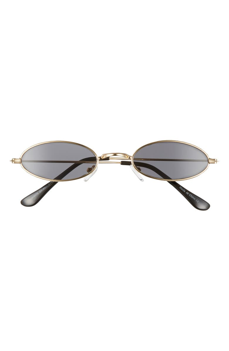 BP. 48mm Tiny Wire Oval Sunglasses, Main, color, 710