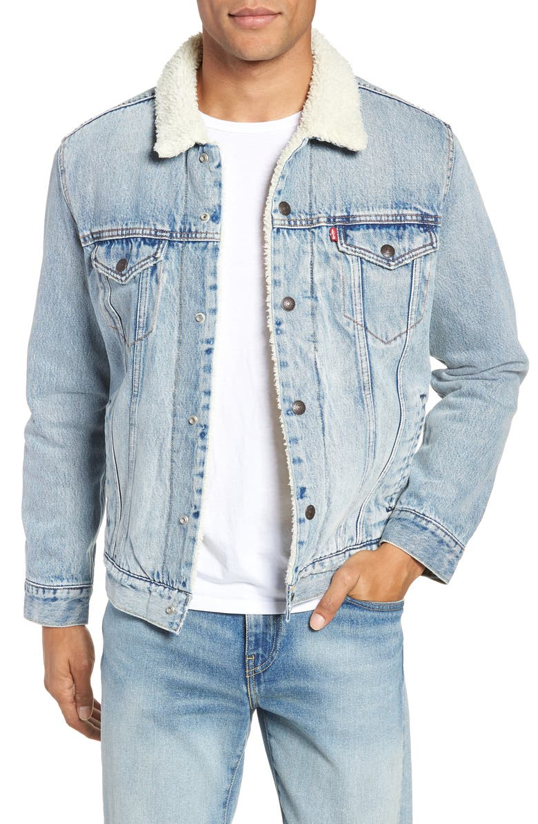 LEVI'S<SUP>®</SUP> Type 3 Faux Shearling Trucker Jacket, Main, color, 420