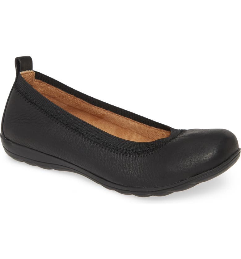 COMFORTIVA Rosella Flat, Main, color, BLACK LEATHER