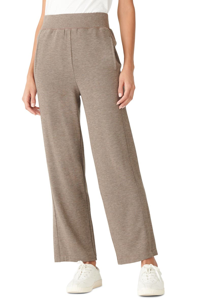 LUCKY BRAND Cloud Fleece Pull-On Pants, Main, color, COCOA BROWN