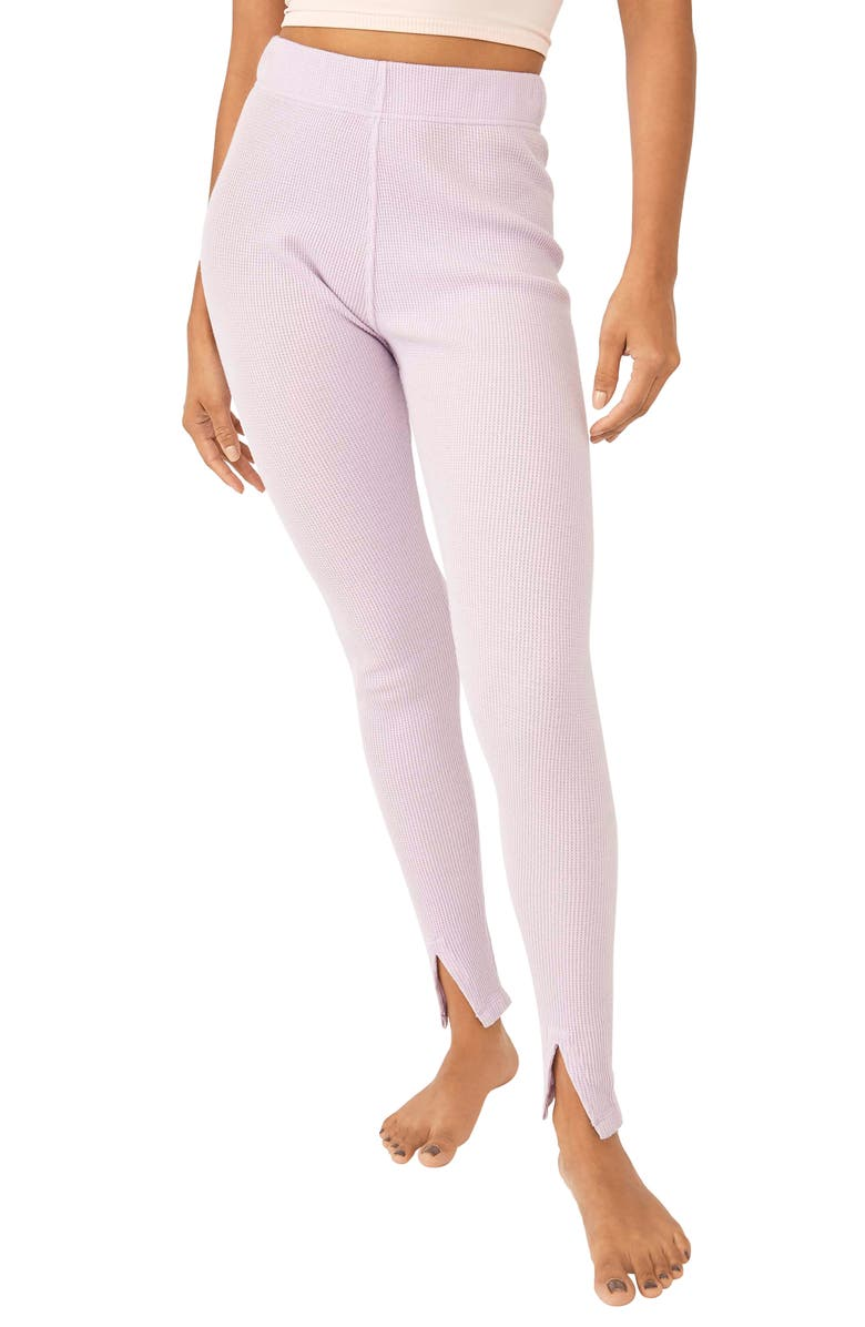 FREE PEOPLE Early Night Cotton Leggings, Main, color, LILAC