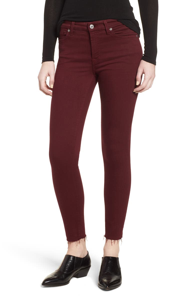 7 FOR ALL MANKIND<SUP>®</SUP> Cutoff Hem Ankle Skinny Jeans, Main, color, 610