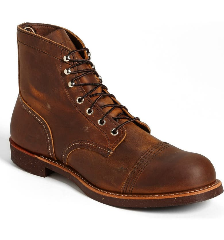 RED WING 'Iron Ranger' 6 Inch Cap Toe Boot, Main, color, COPPER- 8115