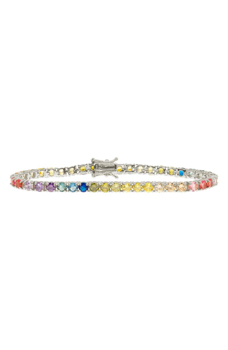 RAGEN JEWELS Rainbow Tennis Bracelet, Main, color, 040