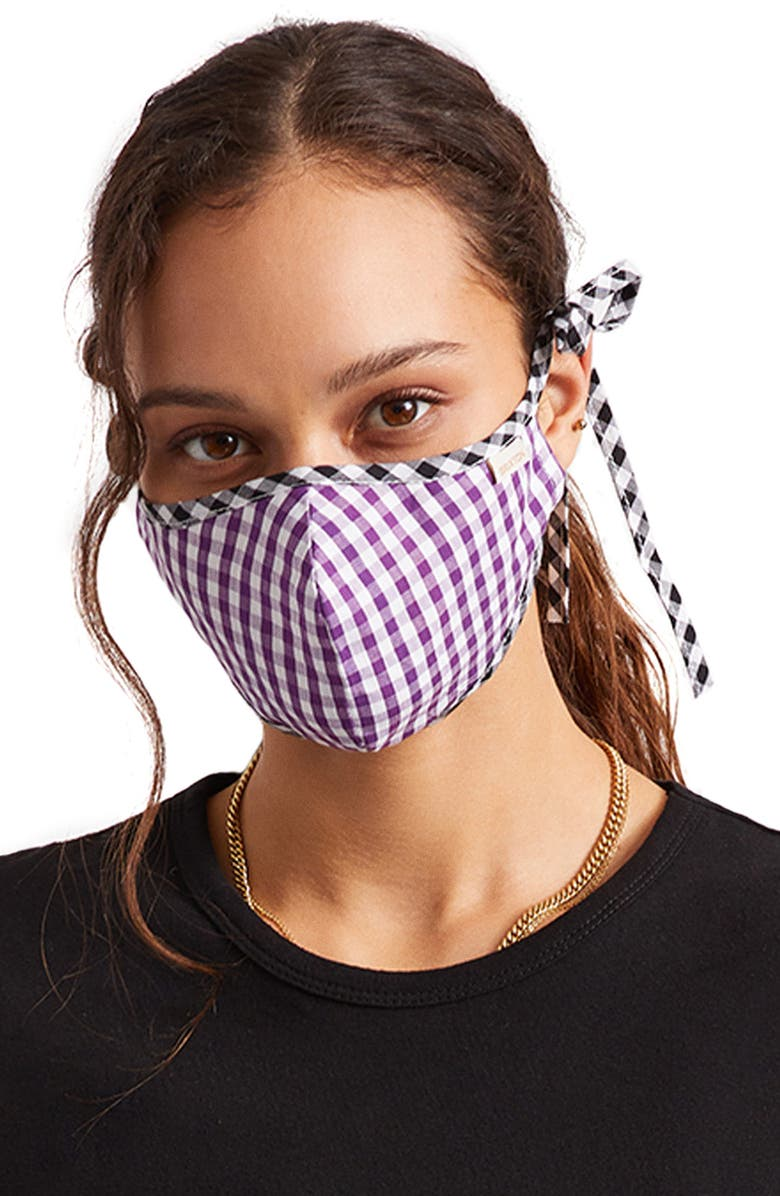 BRIXTON Summer Weights Adult Face Mask, Main, color, PURPLE/ BLACK