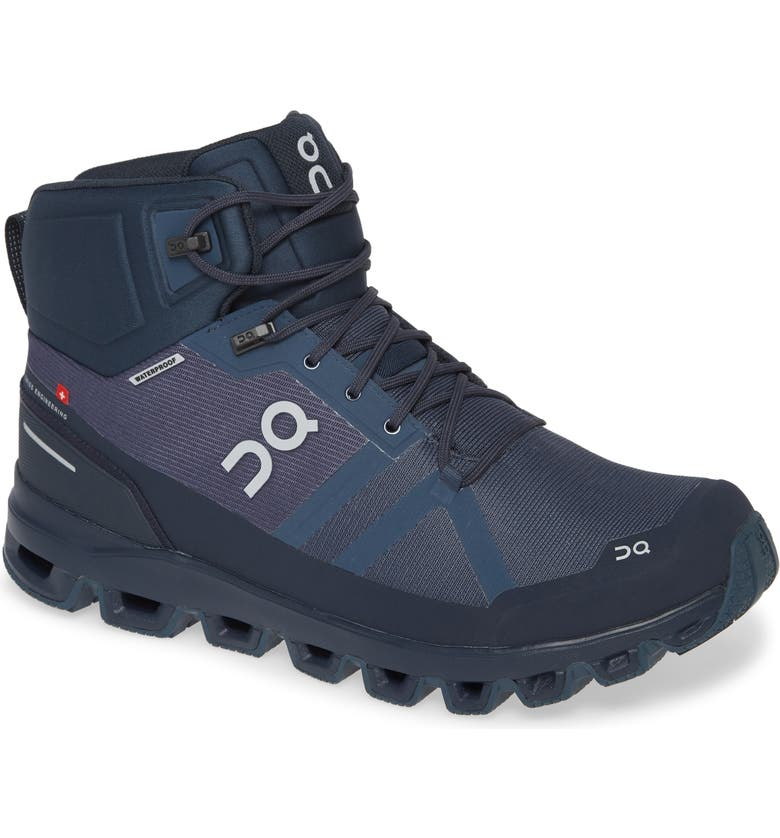 ON Cloudrock Waterproof Hiking Boot, Main, color, NAVY/ MIDNIGHT