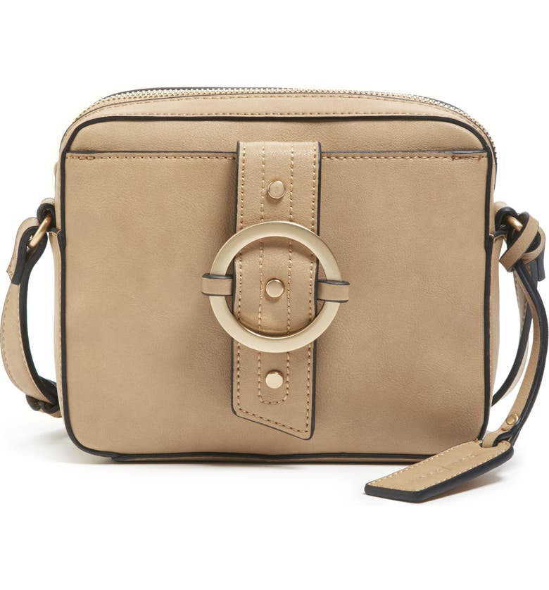 SOLE SOCIETY Faux Leather Camera Crossbody Bag, Main, color, 251