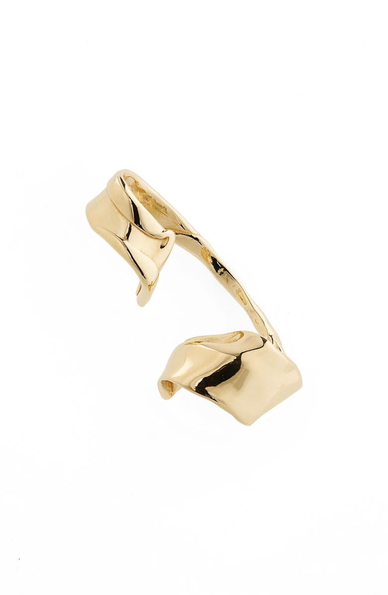 FARIS Warp Ear Cuff, Main, color, BRONZE