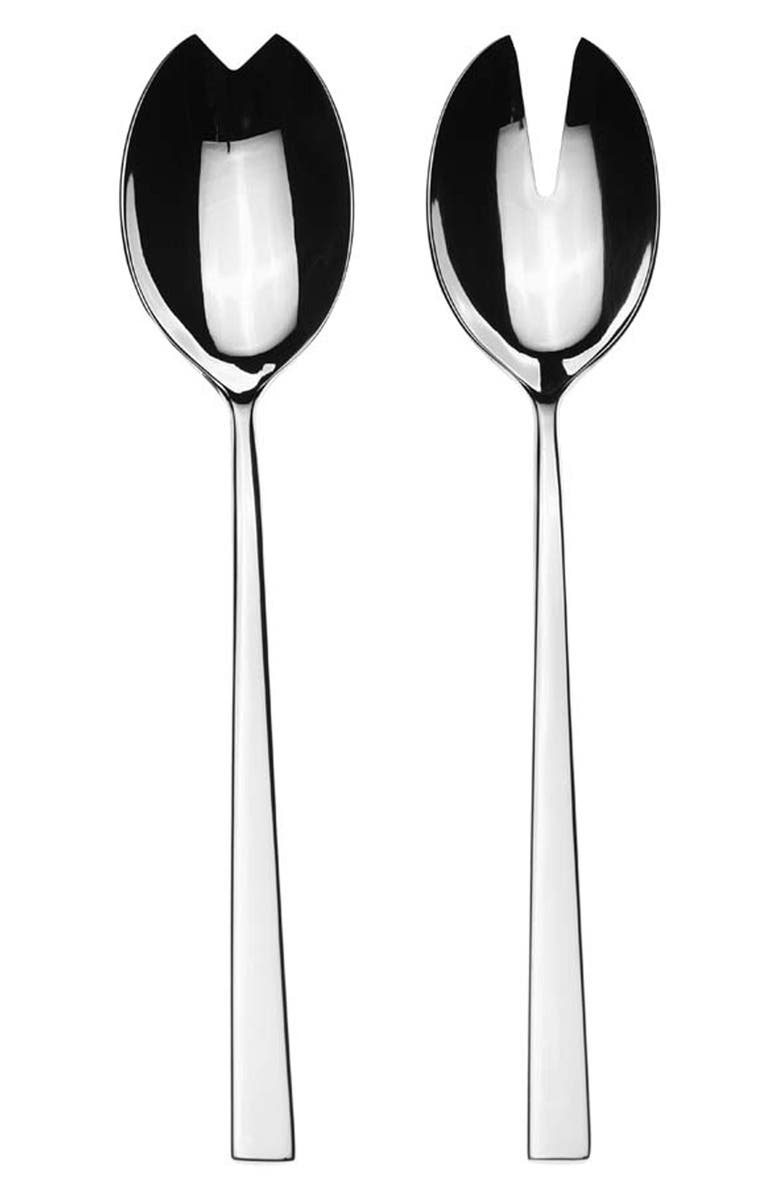 MEPRA Salad Servers, Main, color, STAINLESS SHINY