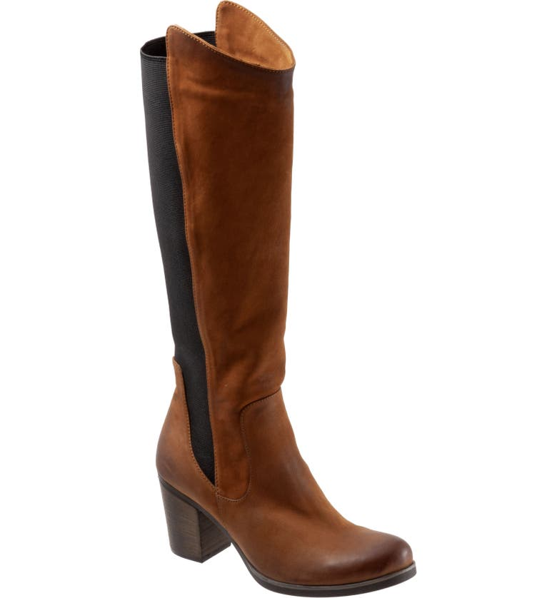 BUENO Walt Knee High Boot, Main, color, TOBACCO NUBUCK