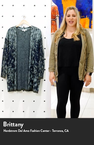 Brushed Abstract Open Cardigan, sales video thumbnail