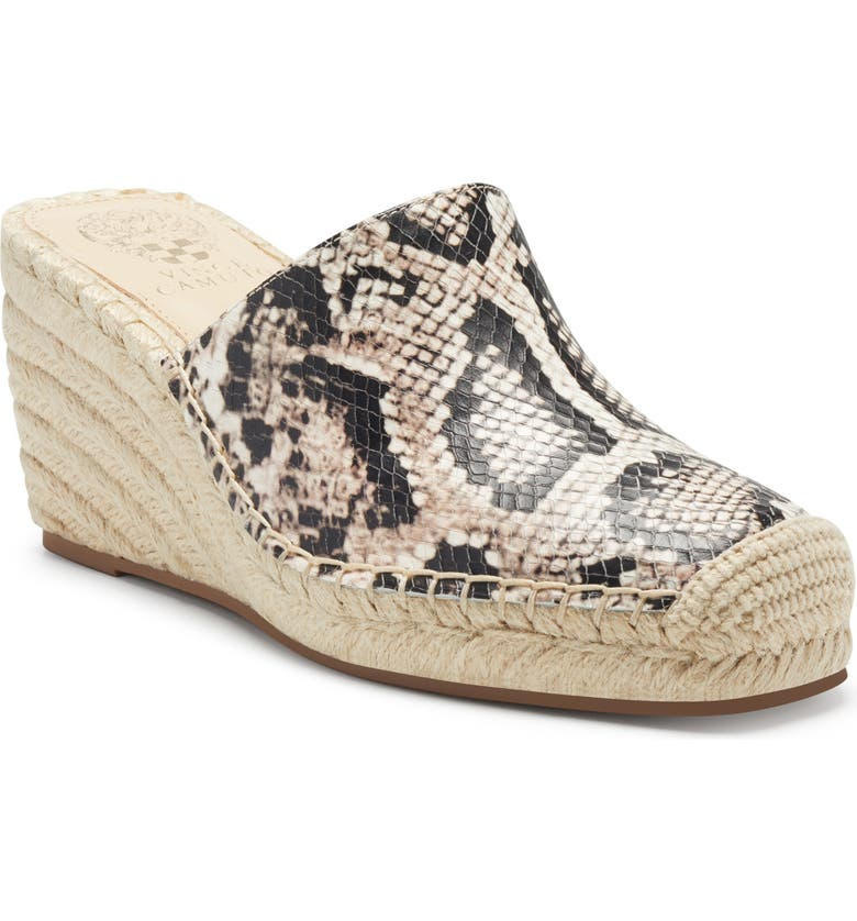 VINCE CAMUTO Kordinan Espadrille Mule, Main, color, NATURAL MULTI