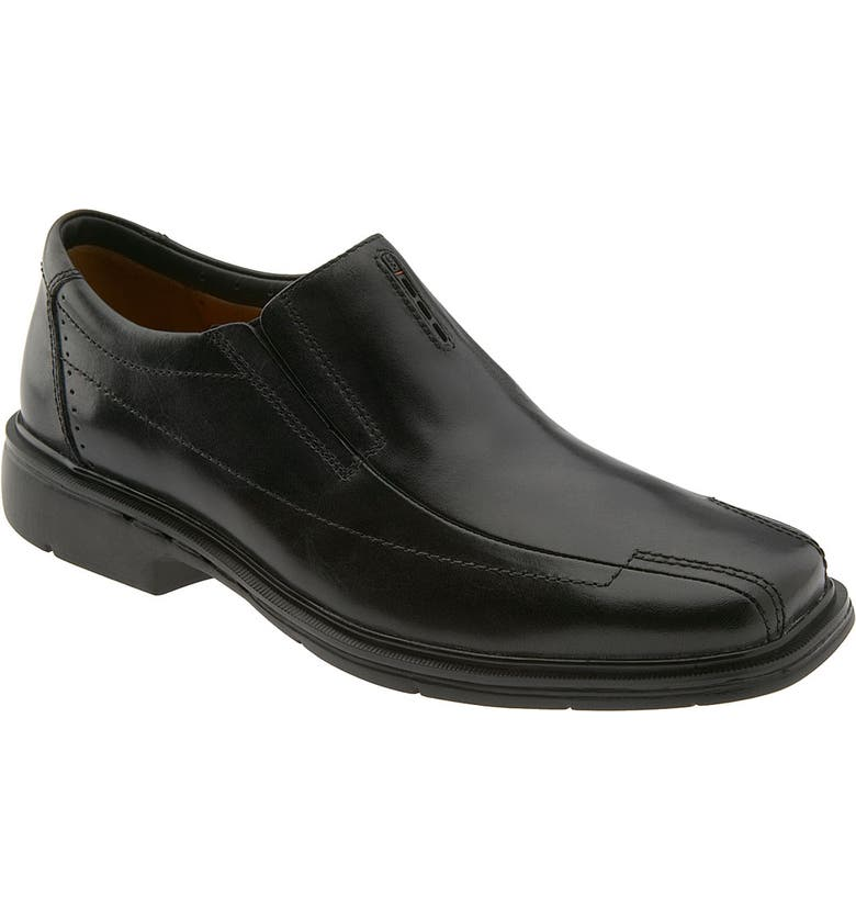 CLARKS<SUP>®</SUP> 'Un.Sheridan' Slip-On, Main, color, BLACK LEATHER