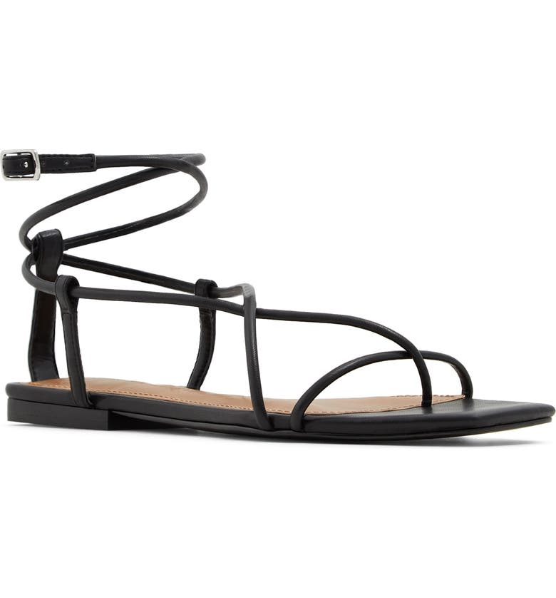WHO WHAT WEAR Zander Sandal, Main, color, 001