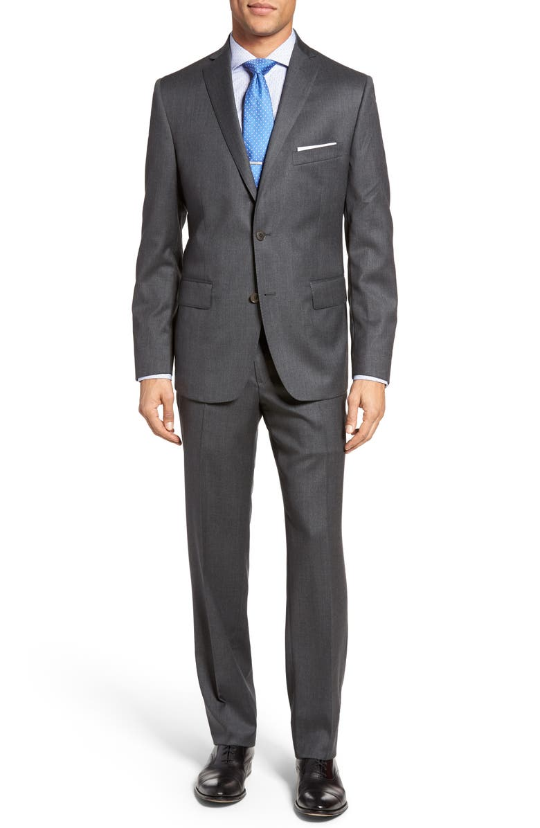 JB BRITCHES Classic Fit Solid Wool Suit, Main, color, 021