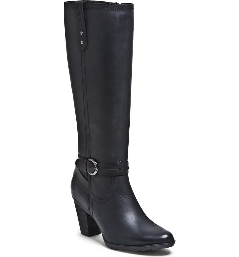 BLONDO 'Fiby' Waterproof Leather Boot, Main, color, BLACK OILED LEATHER