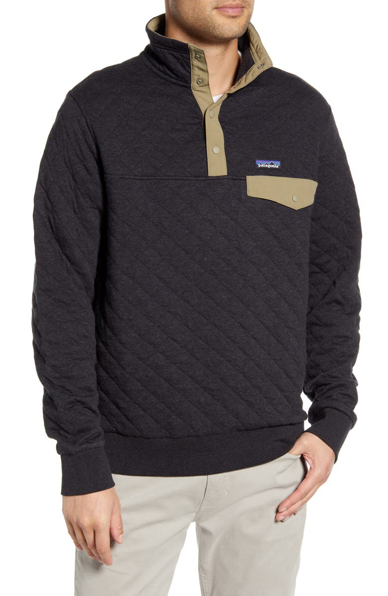 PATAGONIA Snap-T<sup>®</sup> Quilted Fleece Pullover, Main, color, 001