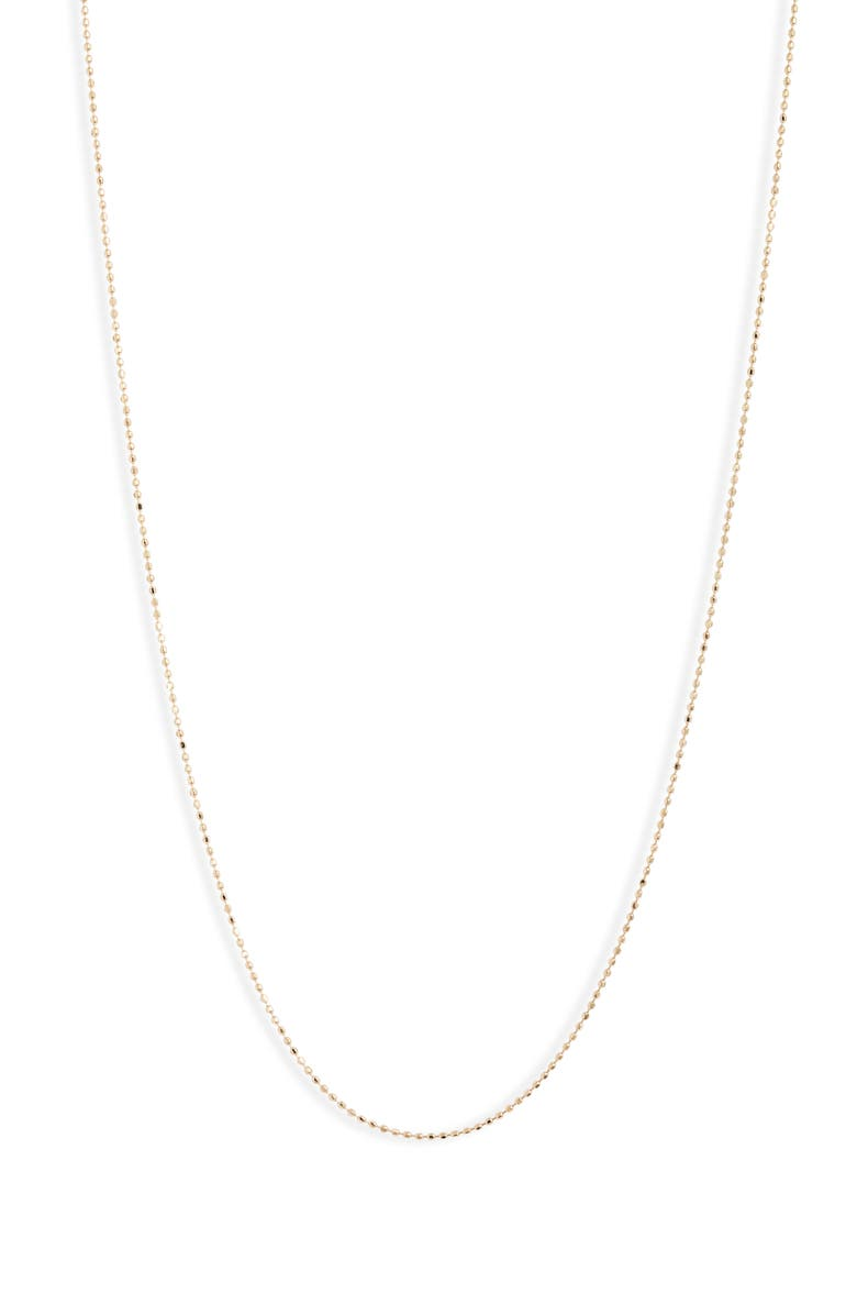 BONY LEVY Essentials 14K Gold Beaded Chain Necklace, Main, color, YELLOW GOLD