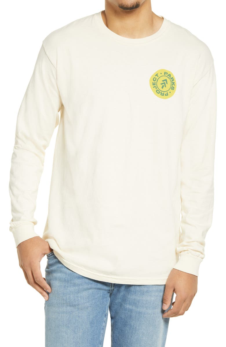 PARKS PROJECT Yosemite Road Trip Long Sleeve Graphic Tee, Main, color, NATURAL