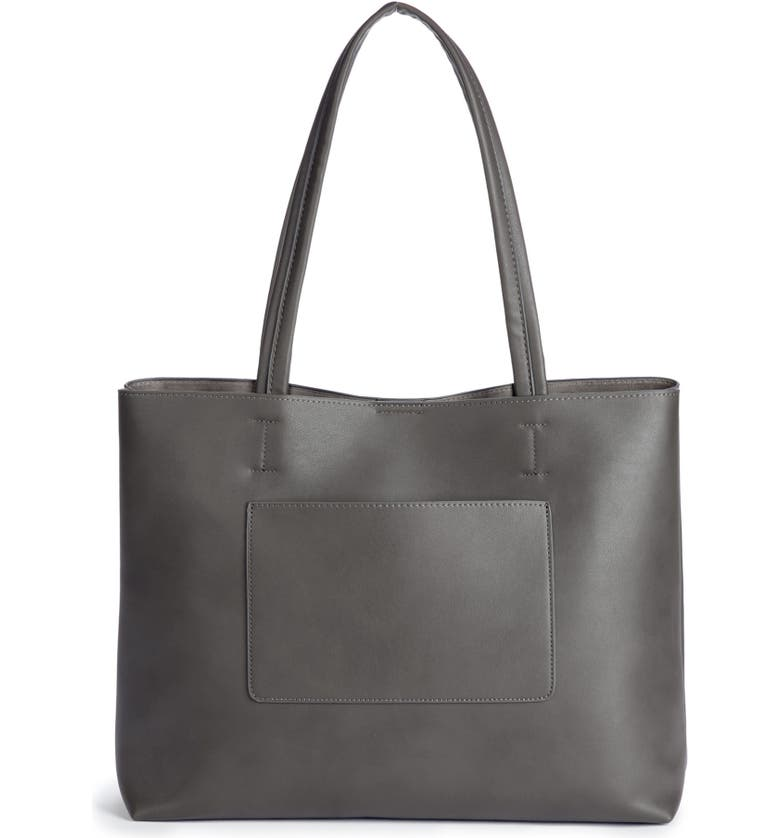 SOLE SOCIETY Oversize Faux Leather Tote, Main, color, 020