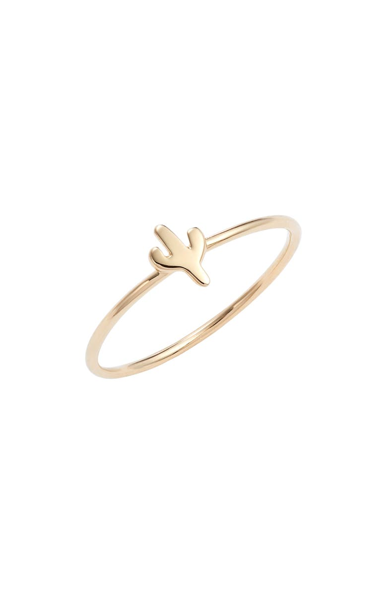 STERLING FOREVER Mini Cactus Ring, Main, color, GOLD