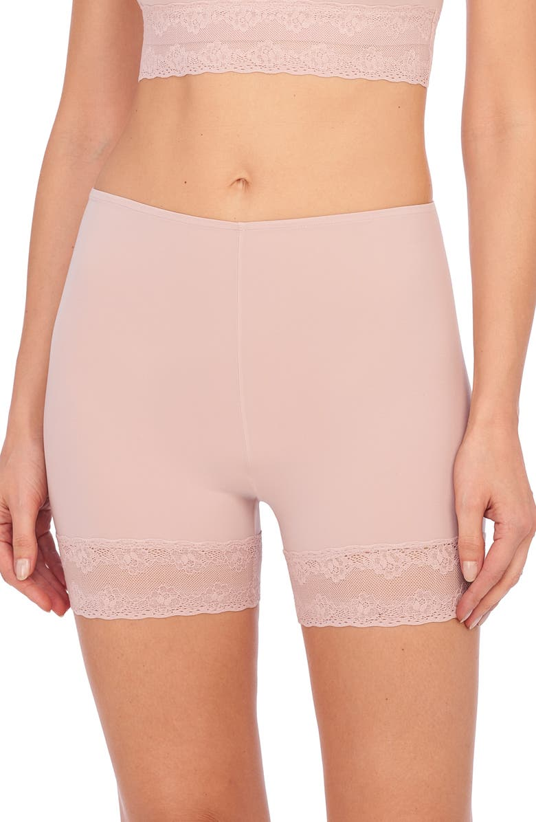 NATORI Bliss Perfection 2-Pack Lace Trim Boyshorts, Main, color, ROSE BEIGE
