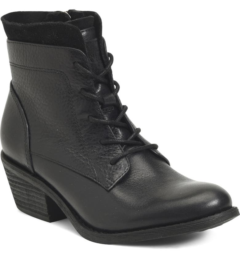 SÖFFT Althea Lace-Up Boot, Main, color, BLACK