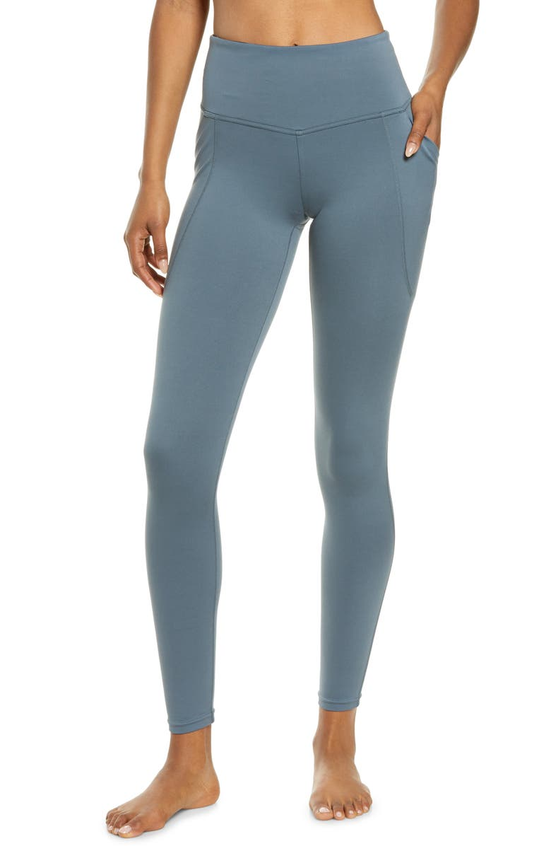 ZELLA High Waist Renew Pocket Leggings, Main, color, BLUE WEATHER