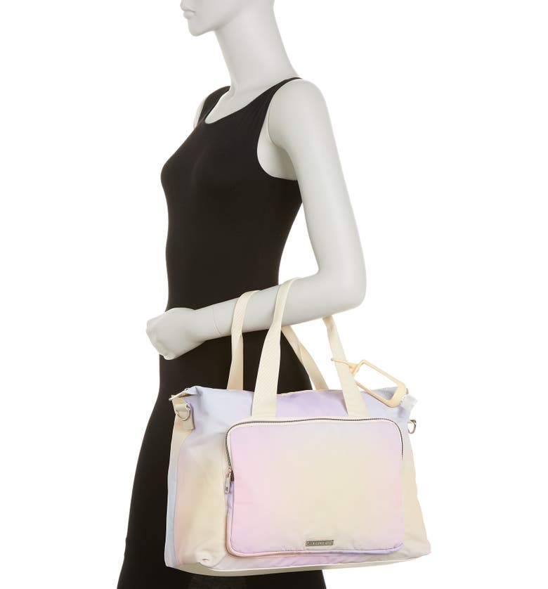 MADDEN GIRL Soft Weekend Bag, Main, color, PASTEL OMBRE