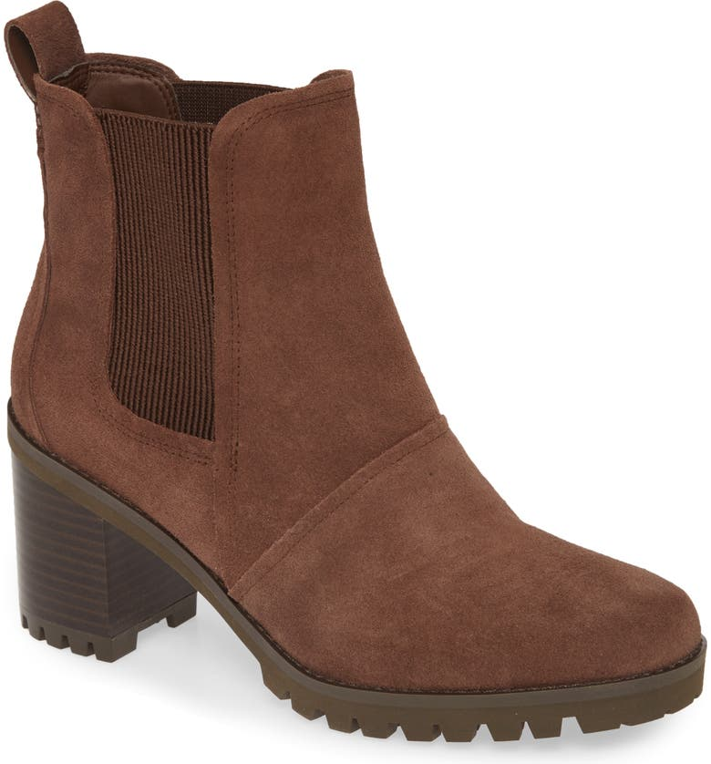 UGG<SUP>®</SUP> Hazel Waterproof Block Heel Bootie, Main, color, 207