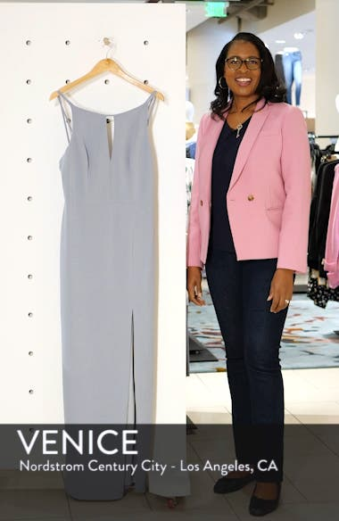 Stretch Crepe Column Gown, sales video thumbnail