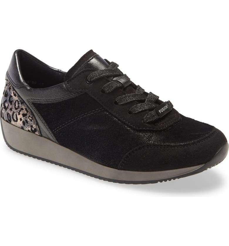 ARA Lana Sneaker, Main, color, BLACK SCALA FABRIC