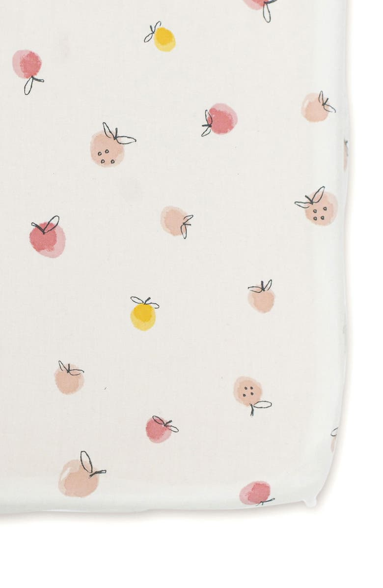 PEHR Strawberry Fields Organic Cotton Crib Sheet, Main, color, MULTI