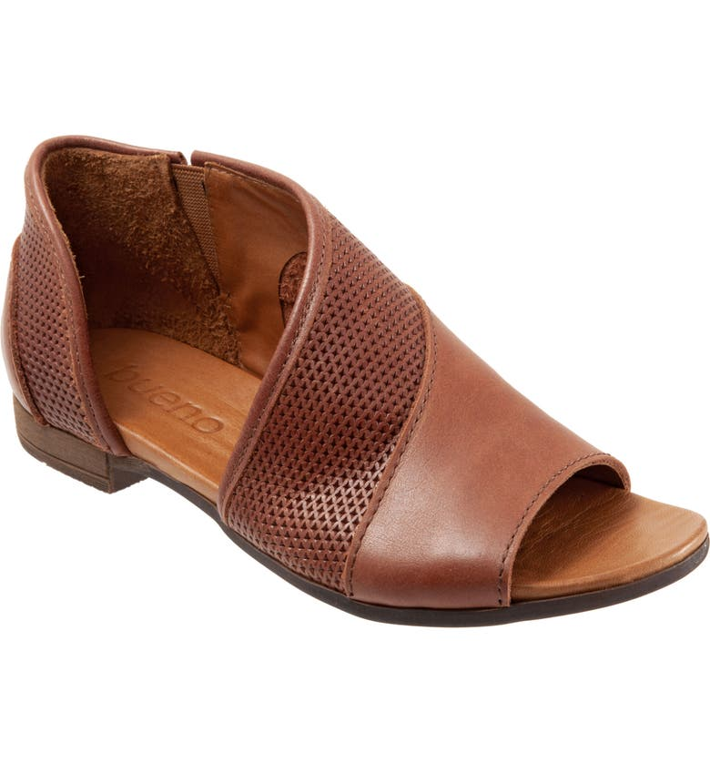 BUENO Tahiti Half d'Orsay Sandal, Main, color, TAN LEATHER