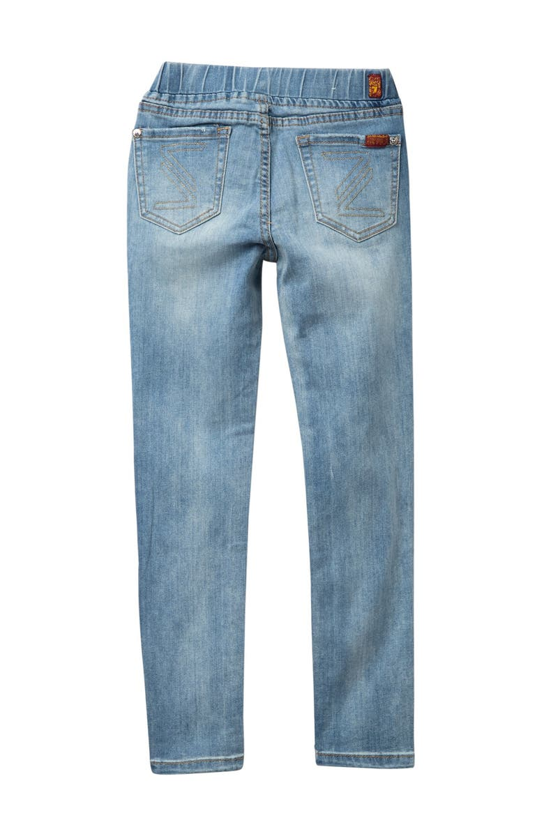 7 FOR ALL MANKIND The Skinny Stretch Jeans, Main, color, SATALITE SKY