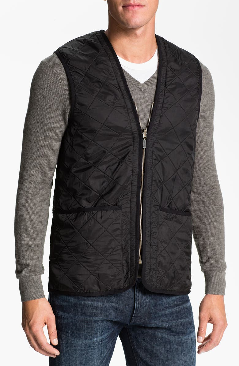 BARBOUR 'Polarquilt' Relaxed Fit Zip-In Liner Vest, Main, color, 001