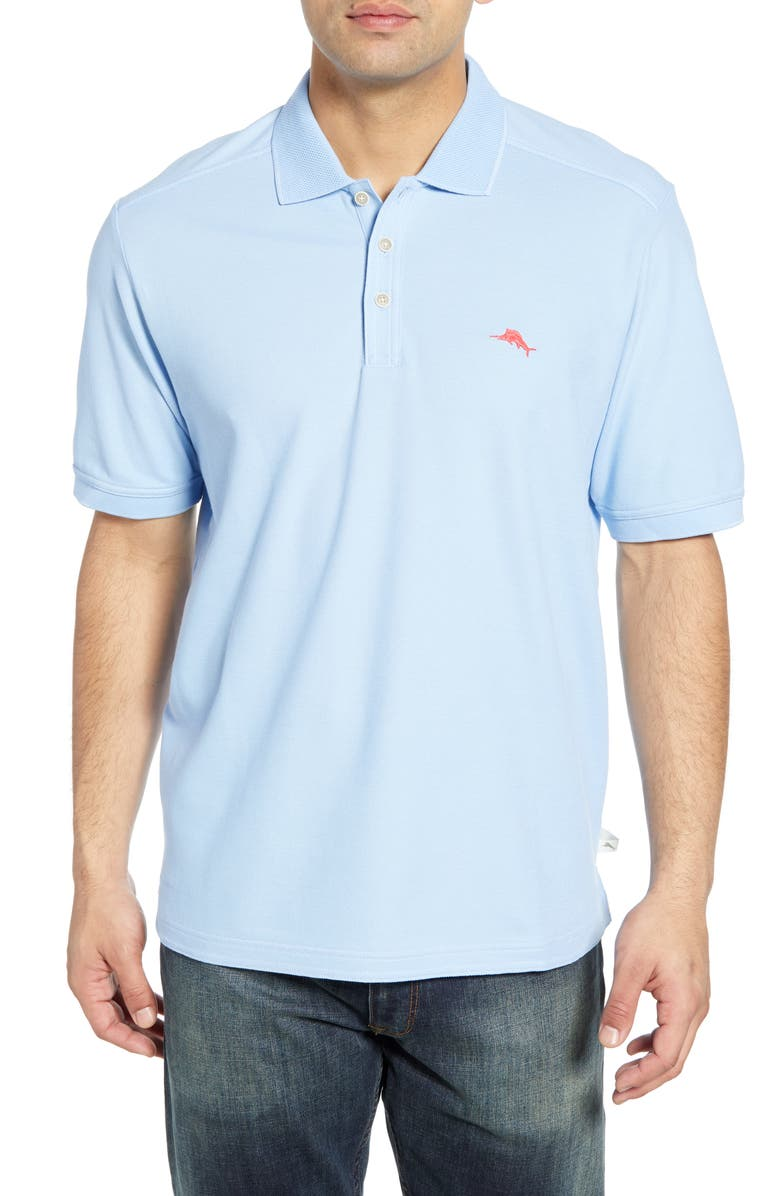 TOMMY BAHAMA Emfielder 2.0 IslandZone<sup>®</sup> Performance Polo, Main, color, LIGHT SKY