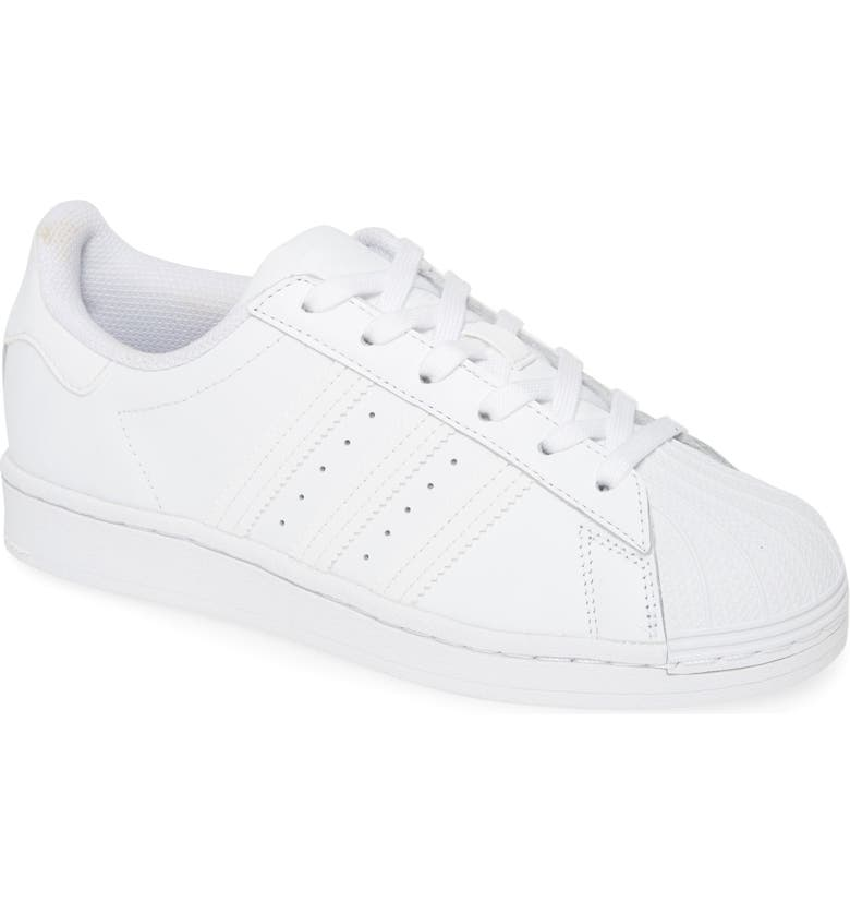 ADIDAS Superstar Sneaker, Main, color, WHITE/ WHITE/ WHITE
