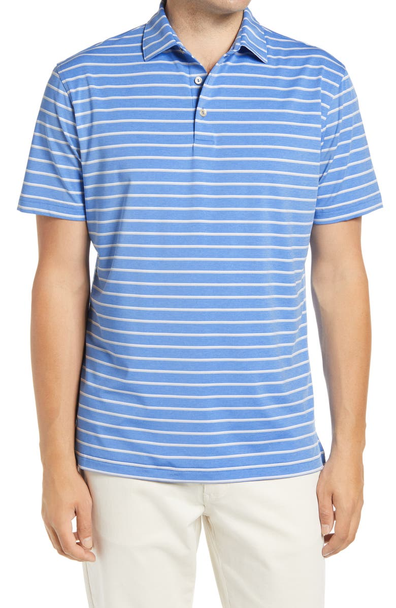 PETER MILLAR Acres Stripe Performance Polo, Main, color, 403