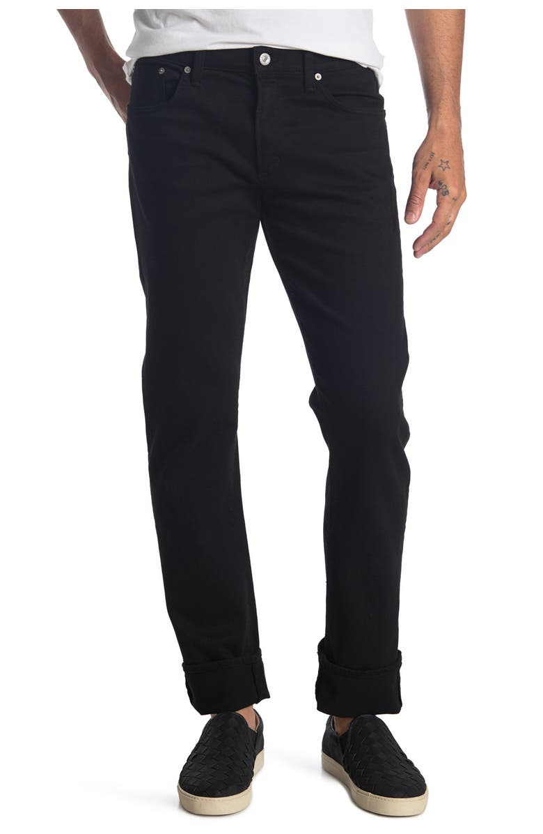 CITIZENS OF HUMANITY Holden Hybrid Slim Fit Straight Leg Jeans, Main, color, BLACK