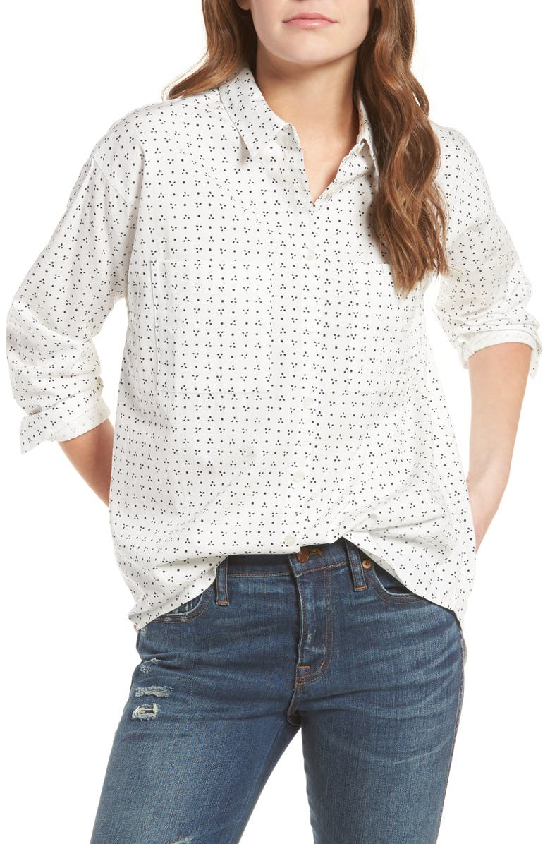 MADEWELL Shrunken Trapeze Shirt, Main, color, 900