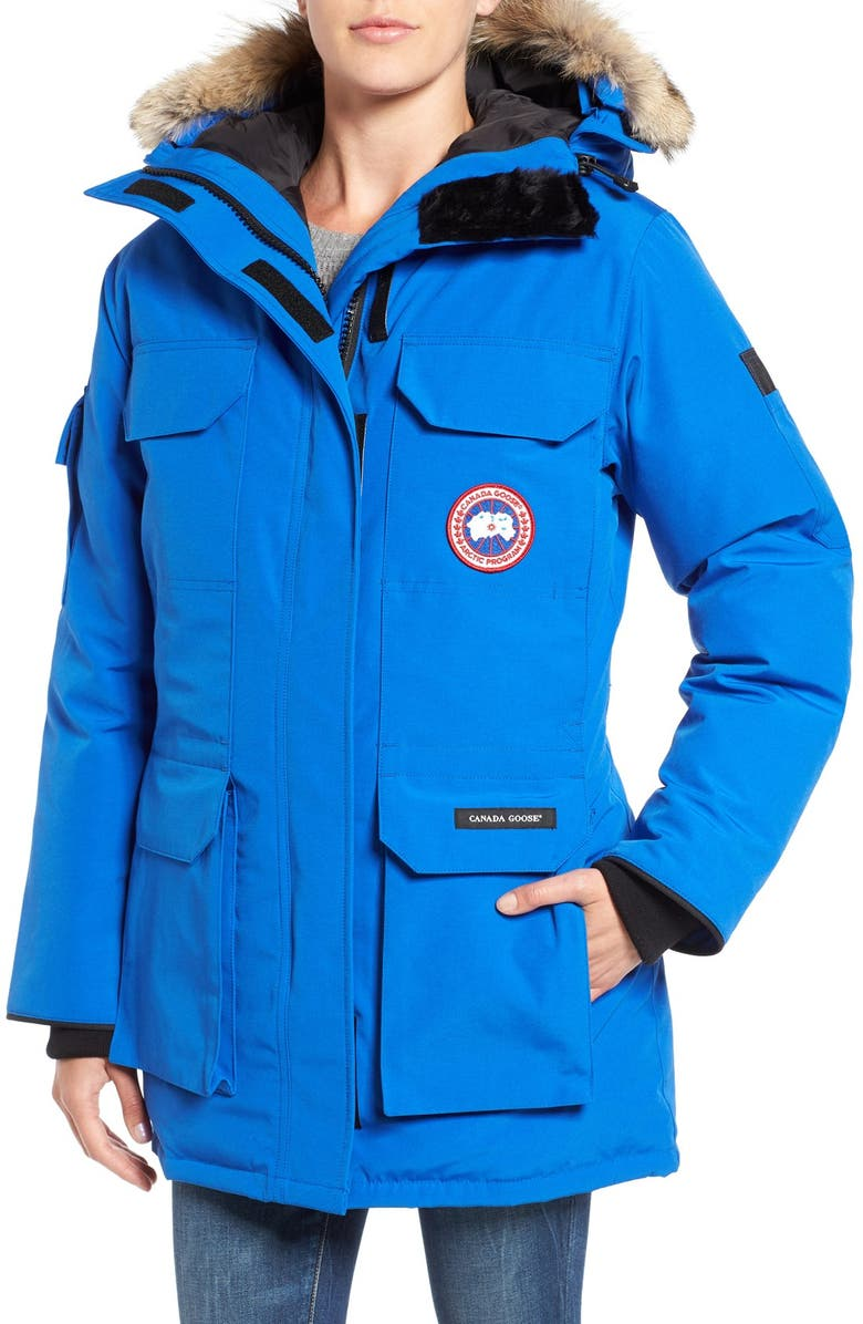 CANADA GOOSE PBI Expedition Hooded Down Parka with Genuine Coyote Fur Trim, Main, color, 430
