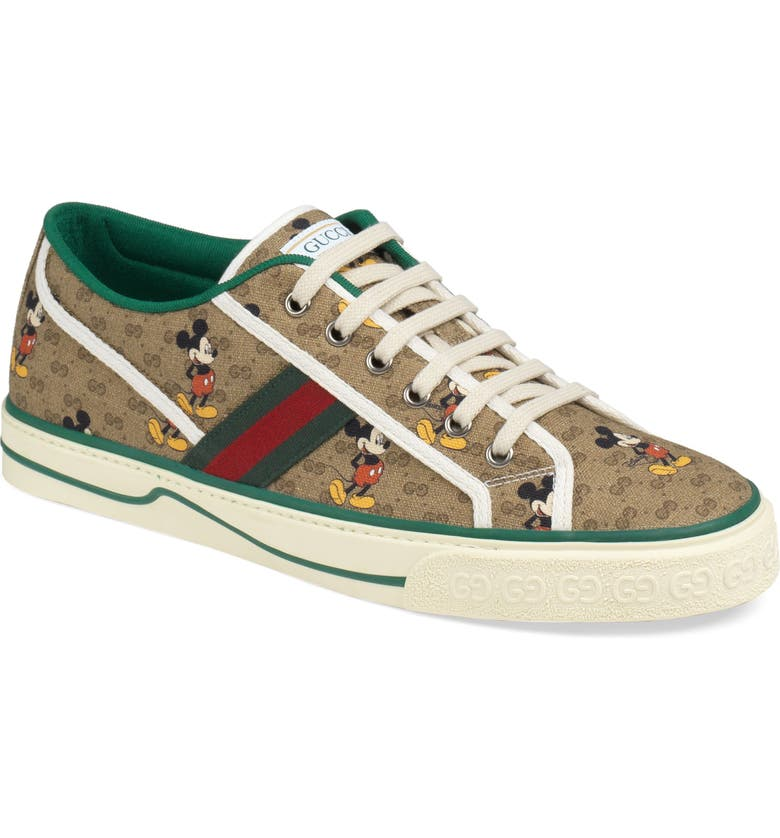 GUCCI x Disney 1977 GG Print Tennis Sneaker, Main, color, 200