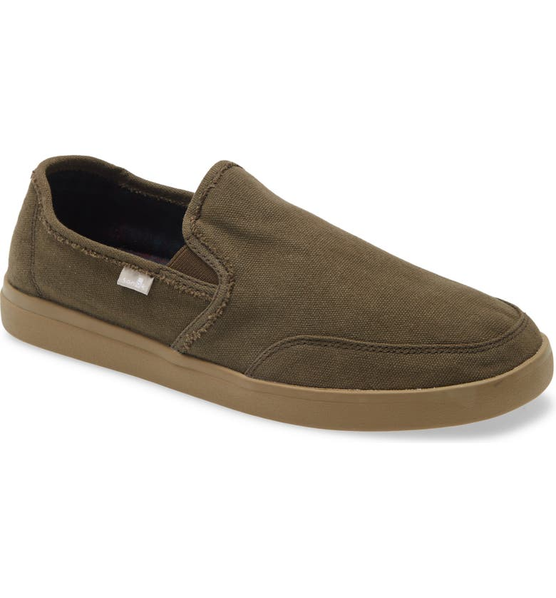 SANUK Vagabond Slip-On Sneaker, Main, color, DARK OLIVE