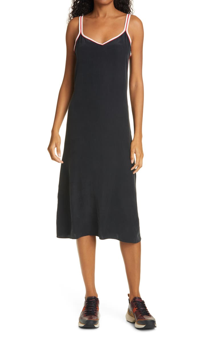 RAG & BONE Luca Silk Midi Slipdress, Main, color, 001