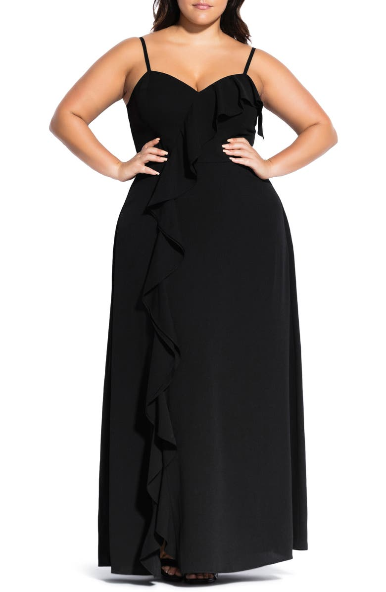 CITY CHIC Catalina Maxi Dress, Main, color, 001