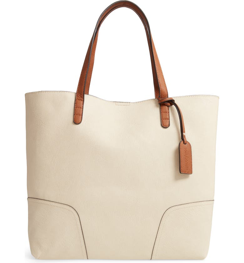 SOLE SOCIETY Lilyn Full Leather Tote, Main, color, 107